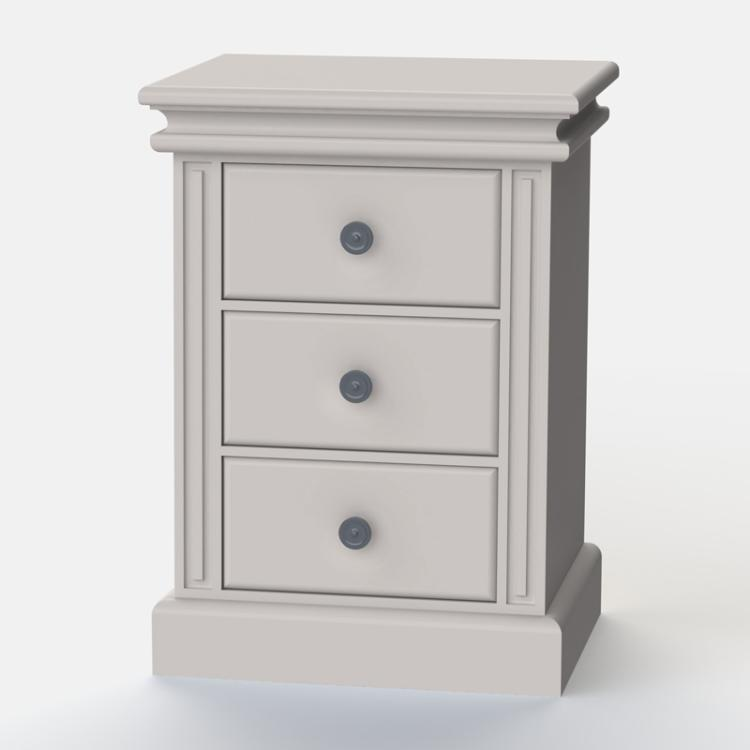 Archie 3 Drawer Bedside Table