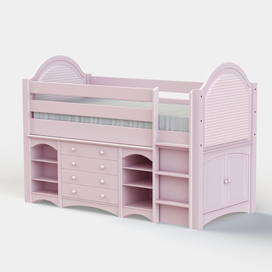beds childrens white midi tt sleeper by sleepland cabin bed