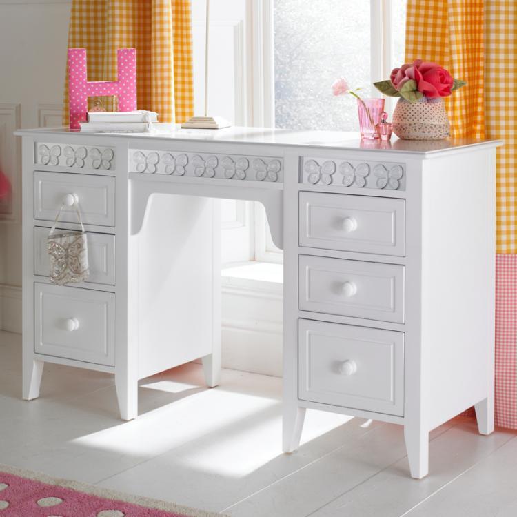 Florence flutterby desk product childrens desk kids desks - Pics of girls bedrooms working desk years and over ...