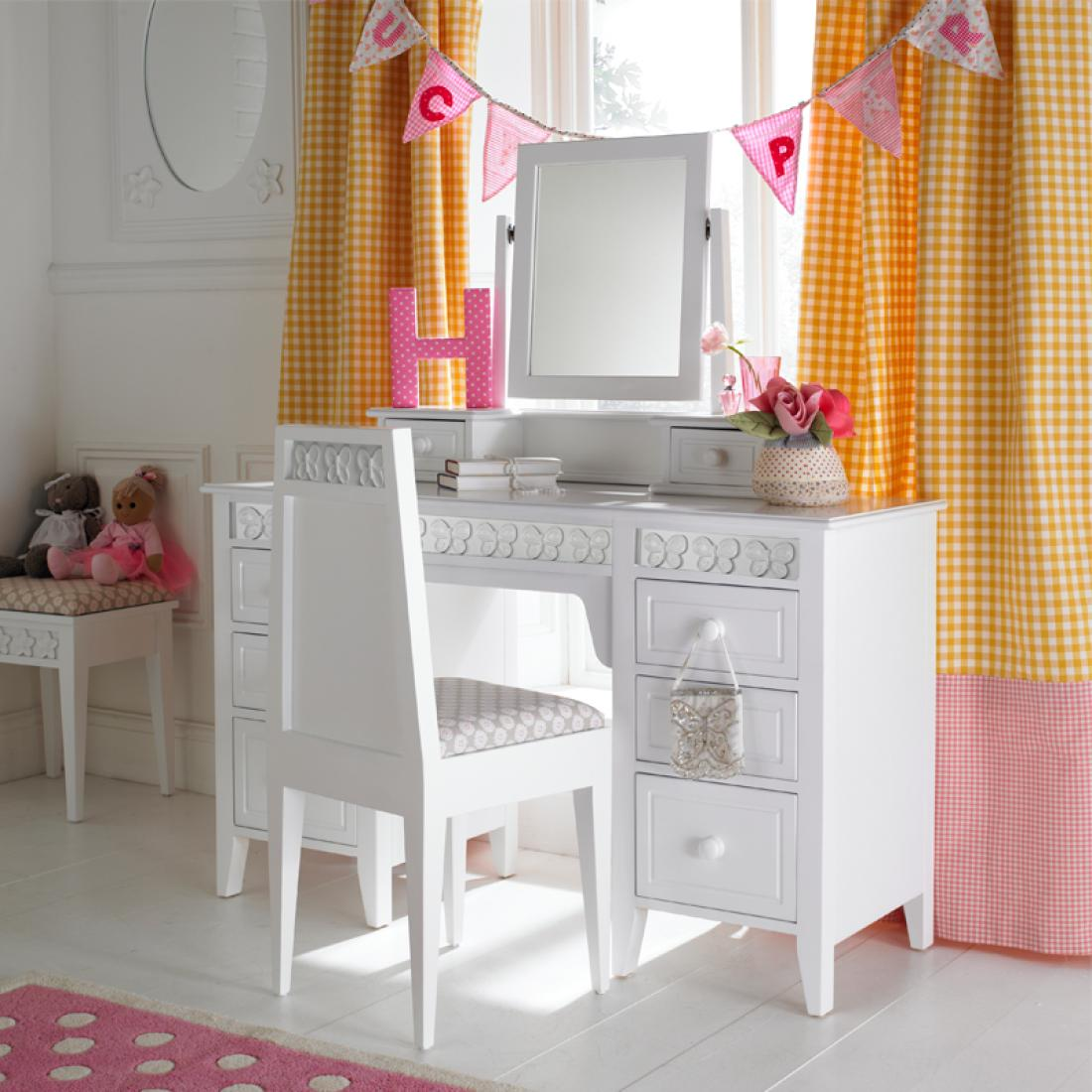 Florence Flutterby Large Dressing Table And Mirror
