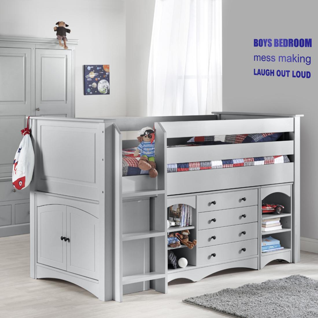 Archie cabin bed boys beds kids bedrooms childrens for Cabin beds for small rooms