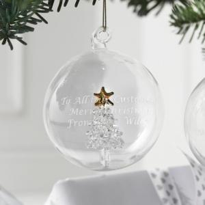 Glass Christmas Tree Bauble