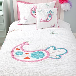 Win a girls paisley bedspread and matching cushion cover!